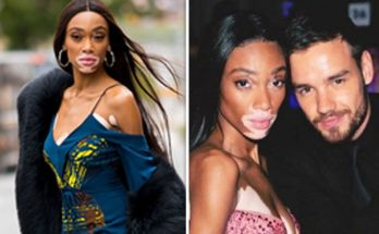 Winnie Harlow Keeps Her Phone in Her Boots!